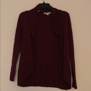 Forever 21 burgundy cardigan size small